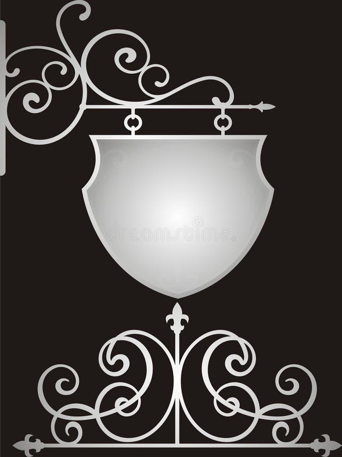 μαύρο ασήμι διανυσματική απεικόνιση