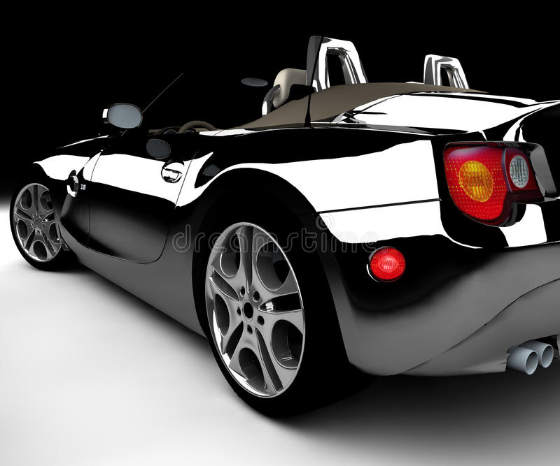 μαύρο αυτοκίνητο διανυσματική απεικόνιση
