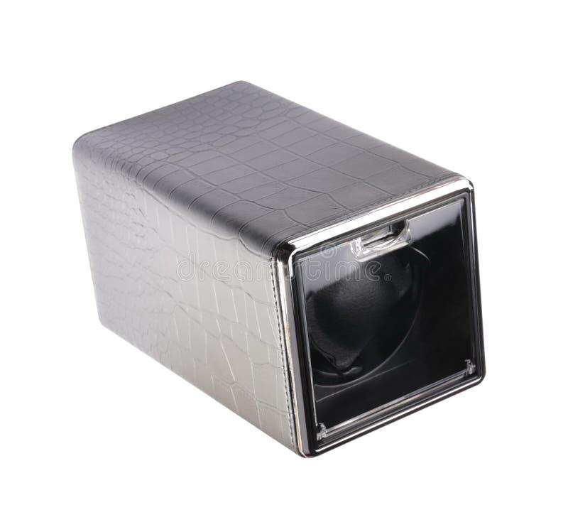 Μαύρο αυτόματο ενιαίο κουρδιστήρι ρολογιών που απομονώνεται στο άσπρο backgrou στοκ εικόνες με δικαίωμα ελεύθερης χρήσης