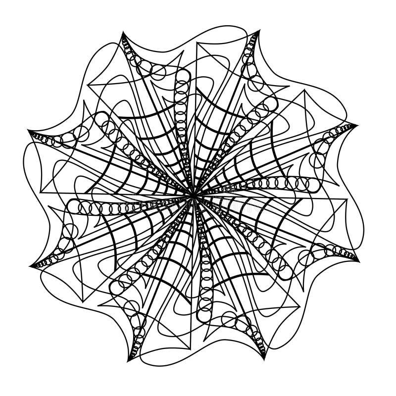 Μαύρο αφηρημένο διανυσματικό εικονίδιο mandala ελεύθερη απεικόνιση δικαιώματος