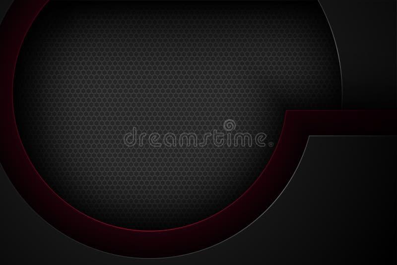 Μαύρο αφηρημένο διανυσματικό υπόβαθρο με τα επικαλύπτοντας χαρακτηριστικά στοκ εικόνες