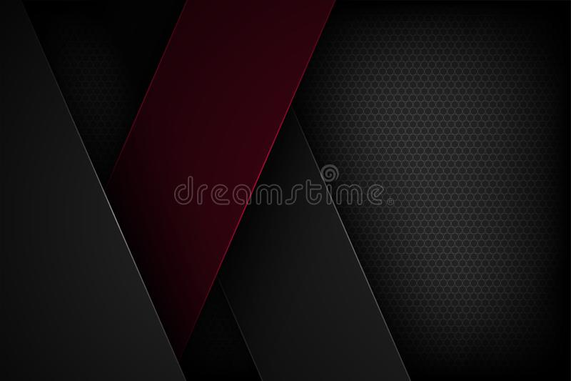 Μαύρο αφηρημένο διανυσματικό υπόβαθρο με τα επικαλύπτοντας χαρακτηριστικά στοκ φωτογραφία με δικαίωμα ελεύθερης χρήσης
