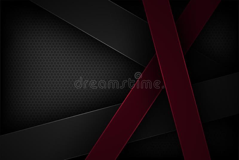 Μαύρο αφηρημένο διανυσματικό υπόβαθρο με τα επικαλύπτοντας χαρακτηριστικά στοκ φωτογραφίες με δικαίωμα ελεύθερης χρήσης