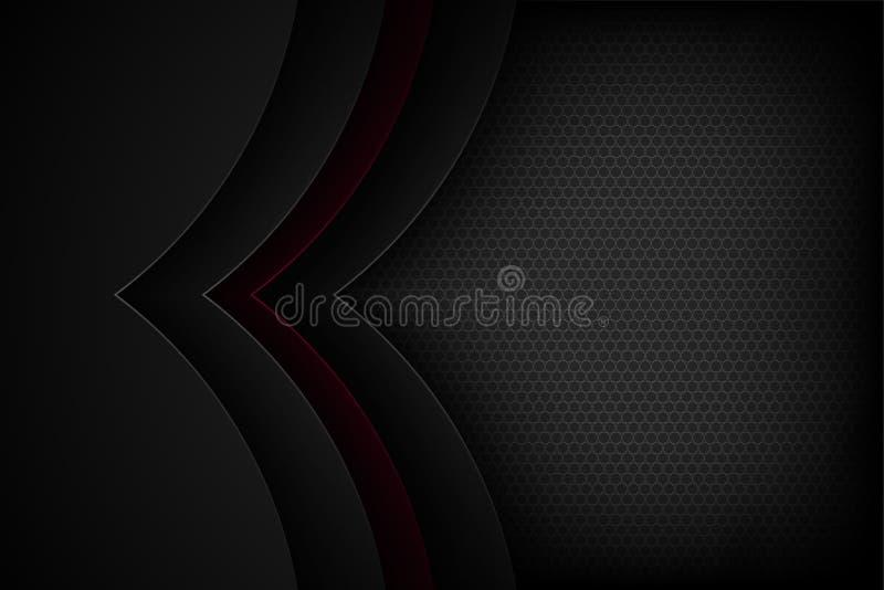 Μαύρο αφηρημένο διανυσματικό υπόβαθρο με τα επικαλύπτοντας χαρακτηριστικά στοκ εικόνες με δικαίωμα ελεύθερης χρήσης