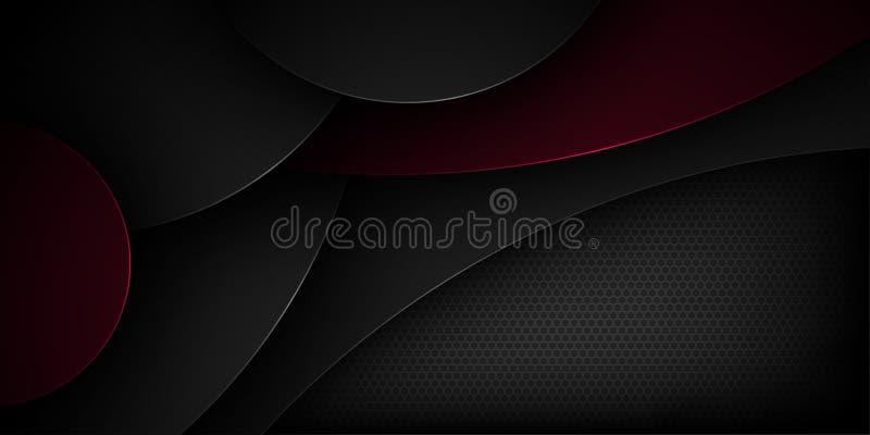 Μαύρο αφηρημένο διανυσματικό υπόβαθρο με τα επικαλύπτοντας χαρακτηριστικά στοκ φωτογραφία