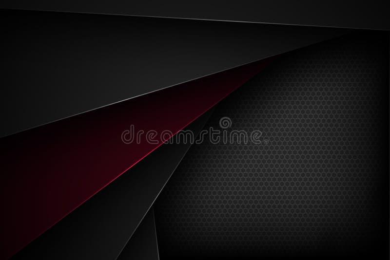 Μαύρο αφηρημένο διανυσματικό υπόβαθρο με τα επικαλύπτοντας χαρακτηριστικά στοκ φωτογραφίες