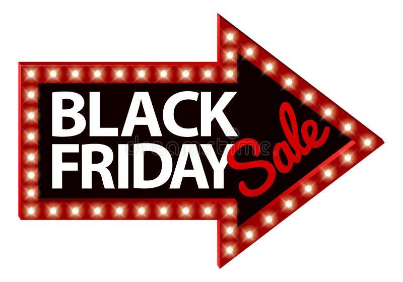 Μαύρο βέλος σημαδιών πώλησης Παρασκευής ελεύθερη απεικόνιση δικαιώματος