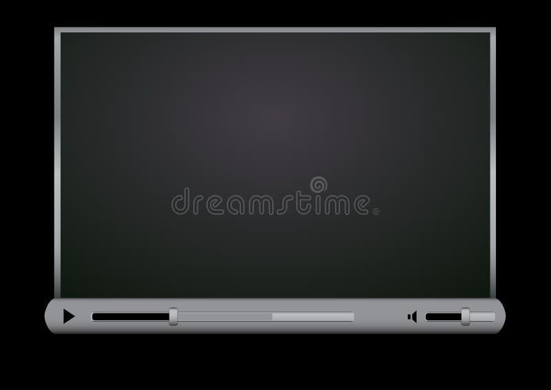μαύρο βίντεο φορέων ξεφυλ& διανυσματική απεικόνιση