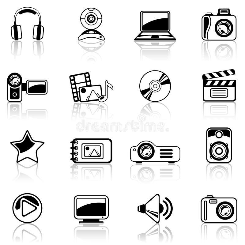 μαύρο βίντεο φωτογραφιών διανυσματική απεικόνιση