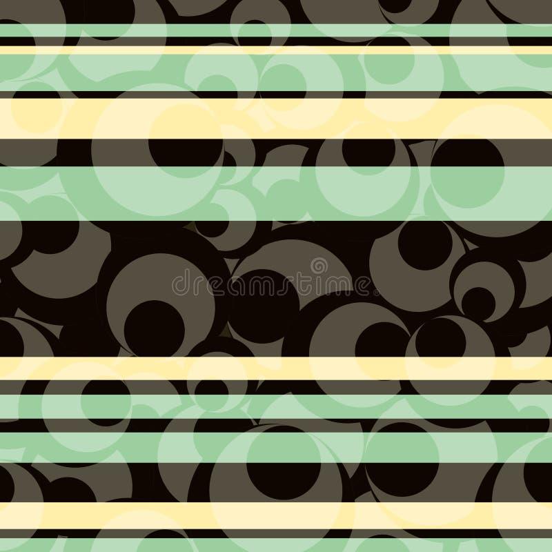 μαύρο γκρι, και άσπροι κύκλοι με το διαφανές σχέδιο υποβάθρου λωρίδων μπλε και κρέμας ελεύθερη απεικόνιση δικαιώματος