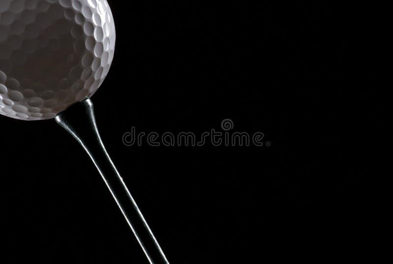 μαύρο γράμμα Τ γκολφ σφαιρώ στοκ εικόνα