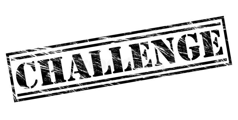 Μαύρο γραμματόσημο πρόκλησης απεικόνιση αποθεμάτων