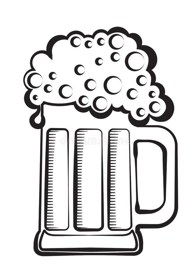 μαύρο γραφικό διάνυσμα μπύρ&alp διανυσματική απεικόνιση