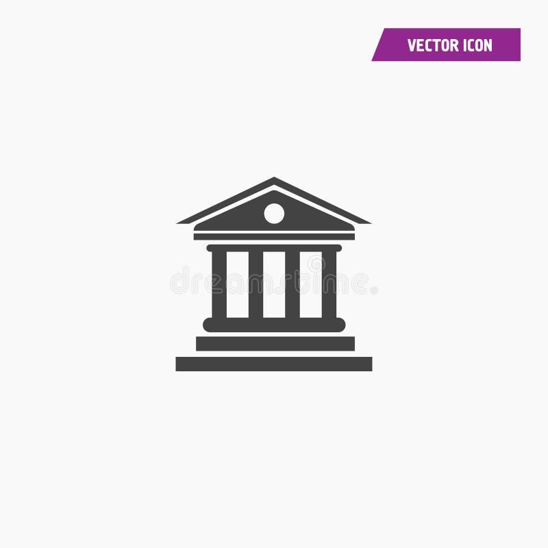 Μαύρο δικαστήριο, μουσείο, εικονίδιο οικοδόμησης τραπεζών ελεύθερη απεικόνιση δικαιώματος