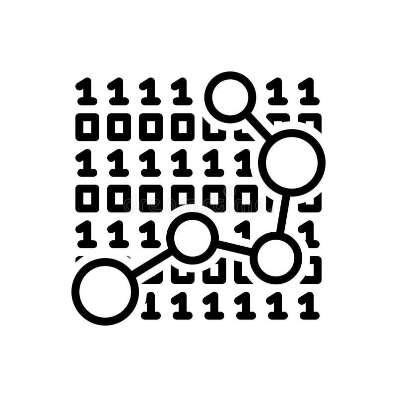 Μαύρο εικονίδιο γραμμών για τα στοιχεία, γραφικός και την ανάπτυξη διανυσματική απεικόνιση