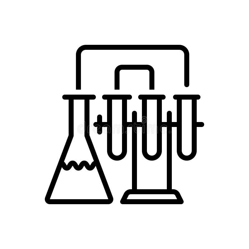 Μαύρο εικονίδιο γραμμών για το εργαστήριο, την παθολογία και το εργαστήριο ελεύθερη απεικόνιση δικαιώματος