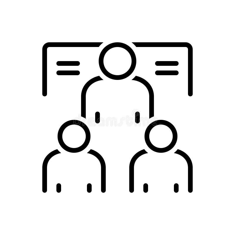 Μαύρο εικονίδιο γραμμών για Mentorship, το μέλος και το πρόσωπο ελεύθερη απεικόνιση δικαιώματος