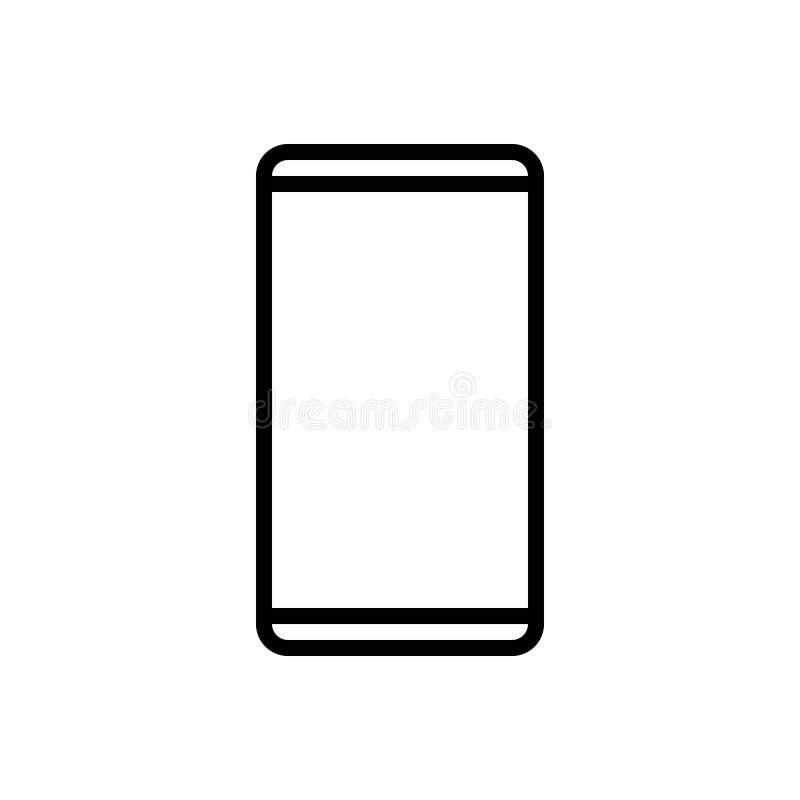 Μαύρο εικονίδιο γραμμών για Smartphone, τον κώδικα και το τηλέφωνο κυττάρων ελεύθερη απεικόνιση δικαιώματος