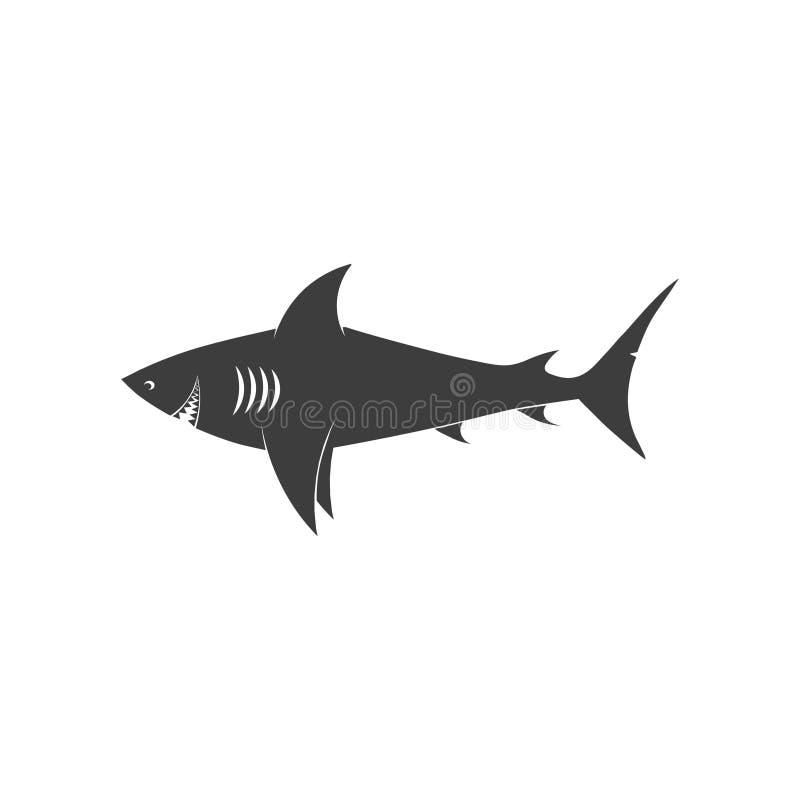 Μαύρο εικονίδιο καρχαριών απεικόνιση αποθεμάτων
