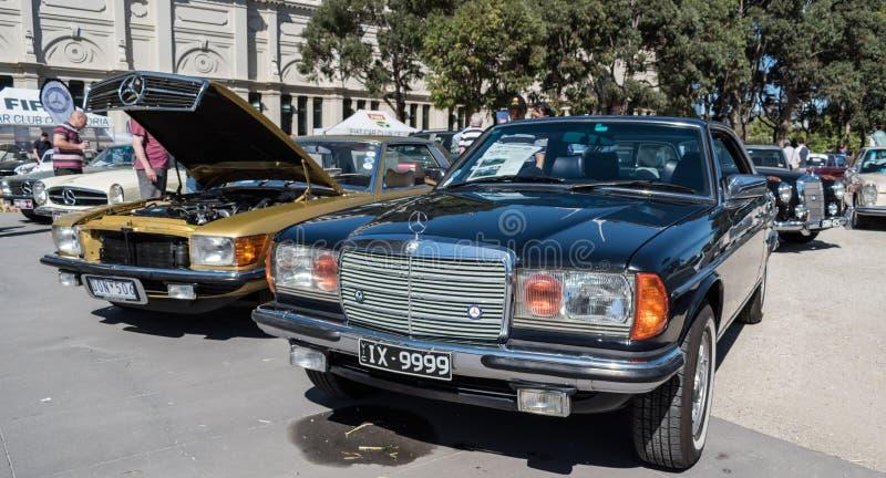 Μαύρο εκλεκτής ποιότητας αυτοκίνητο της Mercedes σε Motorclassica στοκ εικόνες με δικαίωμα ελεύθερης χρήσης