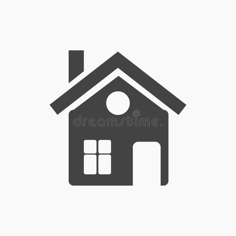 Μαύρο επίπεδο σπίτι, εξοχικό σπίτι, εικονίδιο σαλέ διανυσματική απεικόνιση