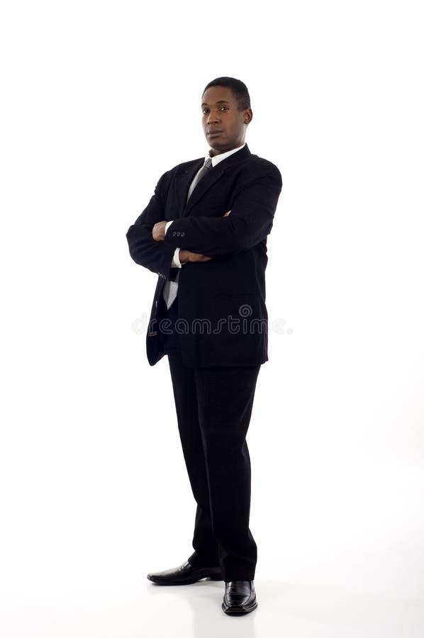 Μαύρο επιχειρησιακό άτομο στοκ εικόνες