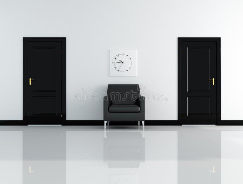 μαύρο εσωτερικό λευκό απεικόνιση αποθεμάτων