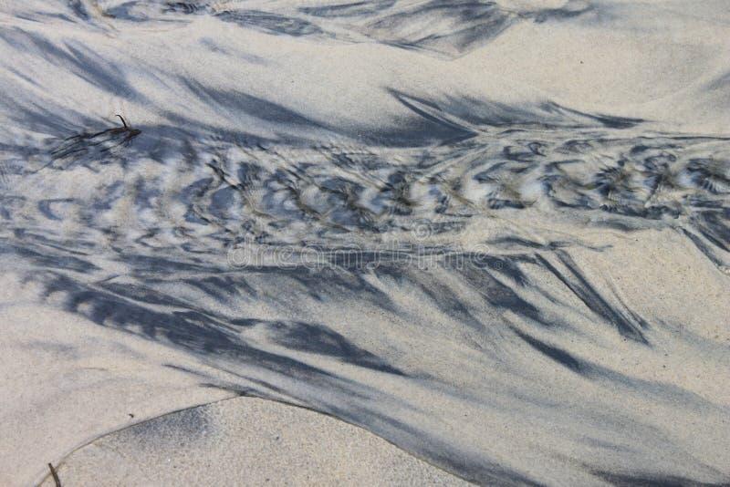 μαύρο λευκό άμμου στοκ εικόνα