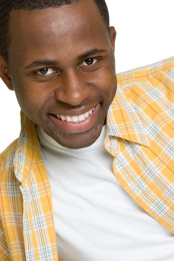 μαύρο ευτυχές άτομο στοκ εικόνες