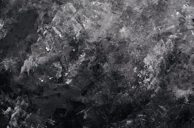 Μαύρο και γκρίζο υπόβαθρο τοίχων, τσιμέντο, σκυρόδεμα, σύσταση στόκων στοκ φωτογραφία