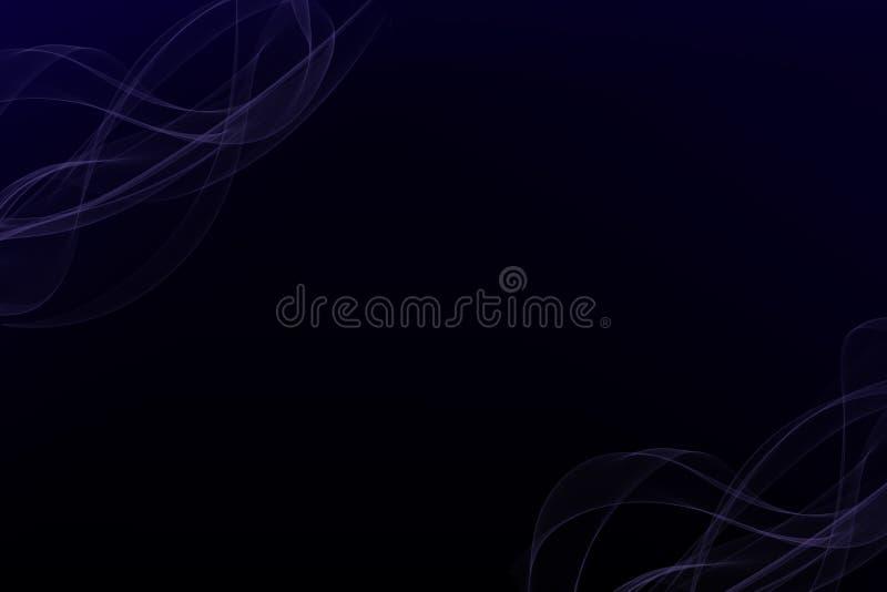 Μαύρο και λεπτό πορφυρό υπόβαθρο smokey διανυσματική απεικόνιση