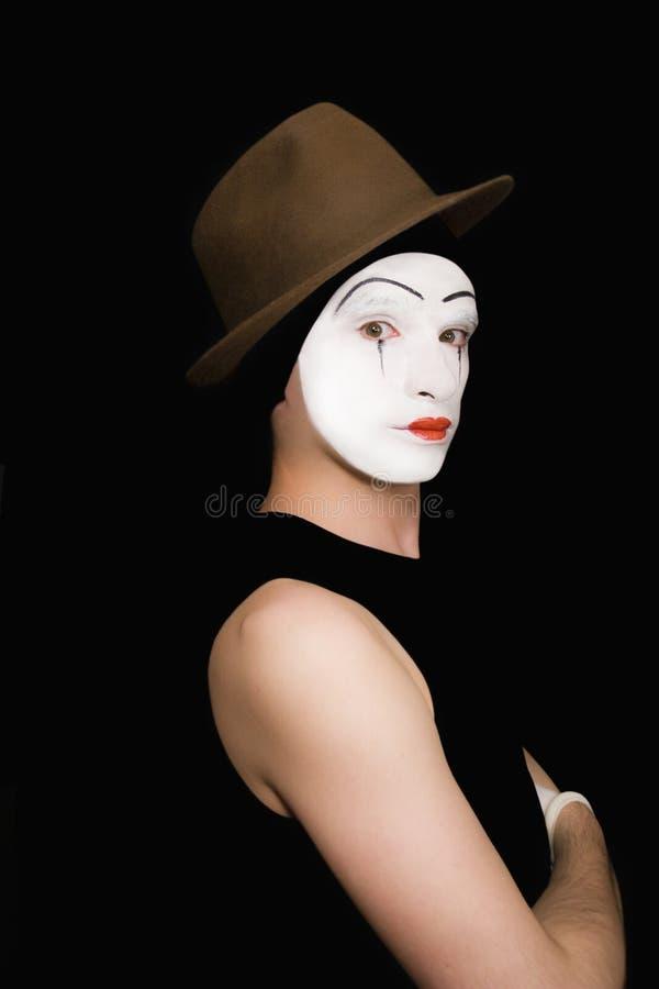 μαύρο καπέλο ανασκόπησης mim στοκ φωτογραφία με δικαίωμα ελεύθερης χρήσης