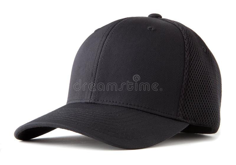 Μαύρο καπέλο μπέιζ-μπώλ στοκ εικόνα με δικαίωμα ελεύθερης χρήσης