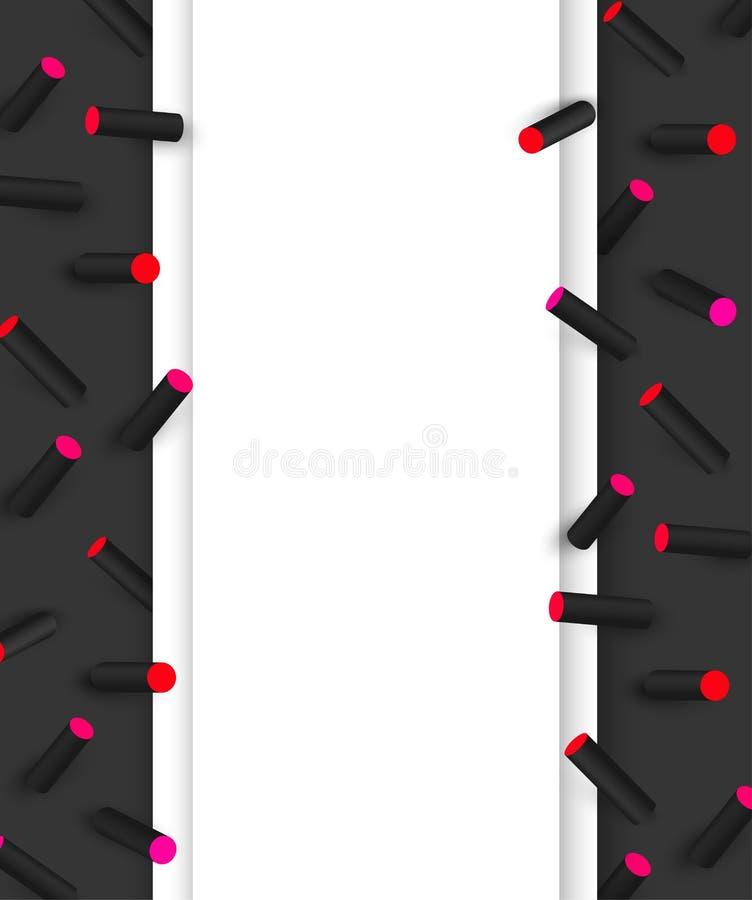 Μαύρο κατασκευασμένο υπόβαθρο με το τρισδιάστατο γεωμετρικό σχέδιο χρώματος ελεύθερη απεικόνιση δικαιώματος