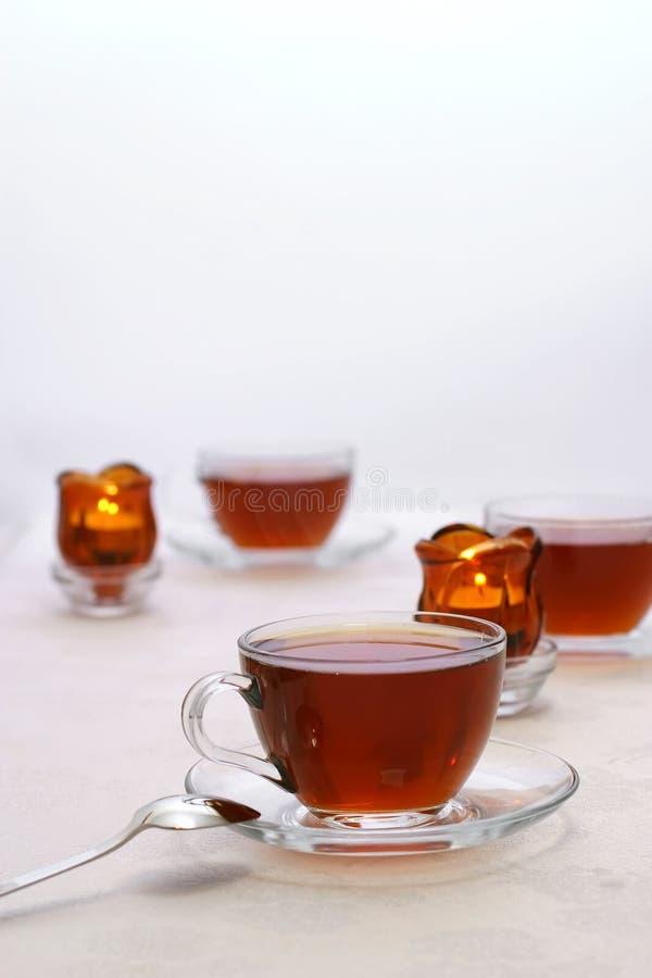 μαύρο καυτό τσάι στοκ φωτογραφία με δικαίωμα ελεύθερης χρήσης