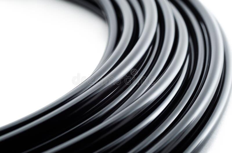 μαύρο καλώδιο στοκ εικόνες