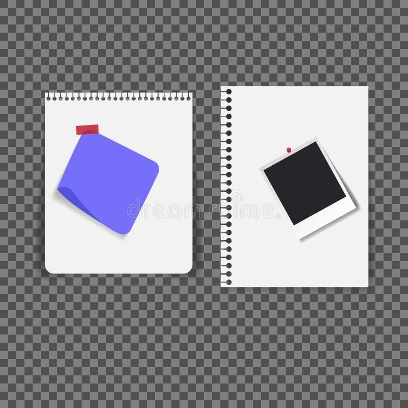 Μαύρο κενό πρότυπο φωτογραφιών Polaroid, μπλε σημείωση ελεύθερη απεικόνιση δικαιώματος