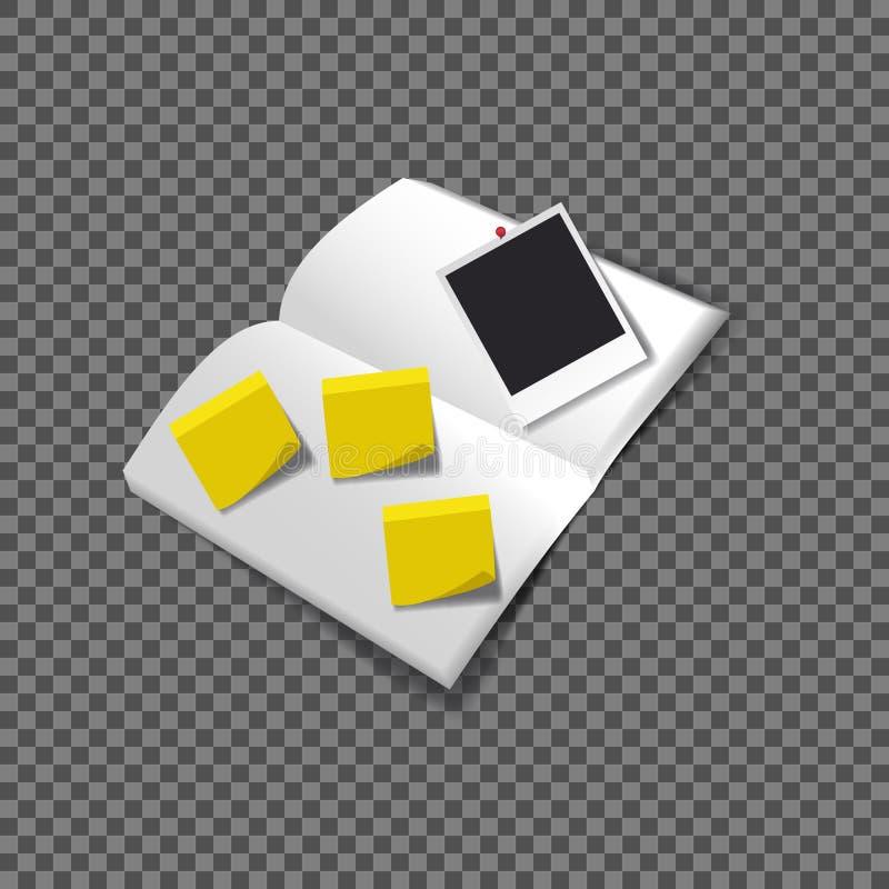 Μαύρο κενό πρότυπο φωτογραφιών Polaroid ελεύθερη απεικόνιση δικαιώματος