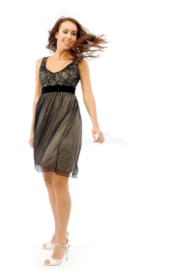 μαύρο κορίτσι φορεμάτων μικρό στοκ φωτογραφίες με δικαίωμα ελεύθερης χρήσης