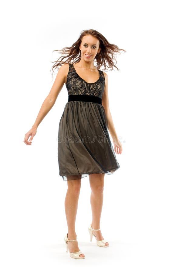 μαύρο κορίτσι φορεμάτων μικρό στοκ εικόνες με δικαίωμα ελεύθερης χρήσης