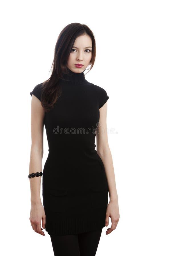 Download μαύρο κορίτσι φορεμάτων στοκ εικόνες. εικόνα από πανέμορφος - 13183622