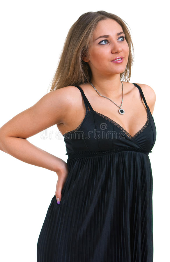 μαύρο κορίτσι φορεμάτων στοκ εικόνα