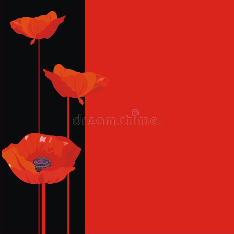 μαύρο κόκκινο απεικόνιση&sigm ελεύθερη απεικόνιση δικαιώματος