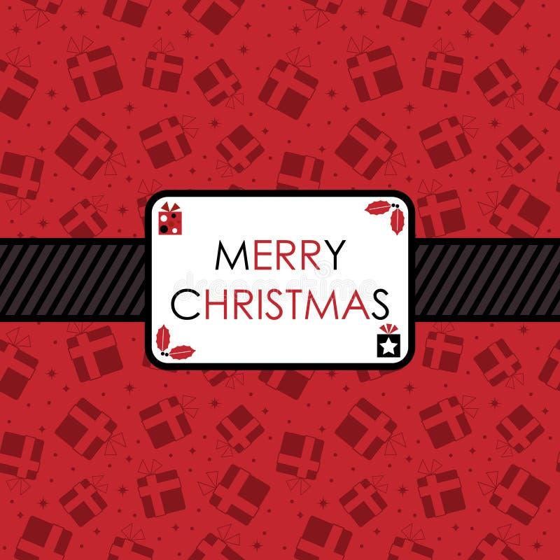 μαύρο κόκκινο Χριστουγέν&nu απεικόνιση αποθεμάτων