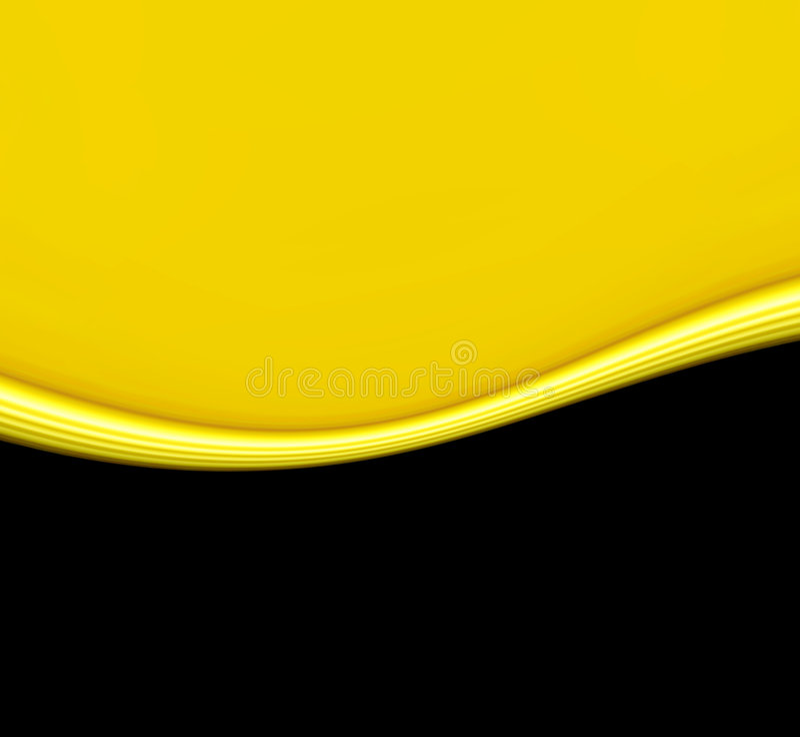 μαύρο κύμα κίτρινο διανυσματική απεικόνιση