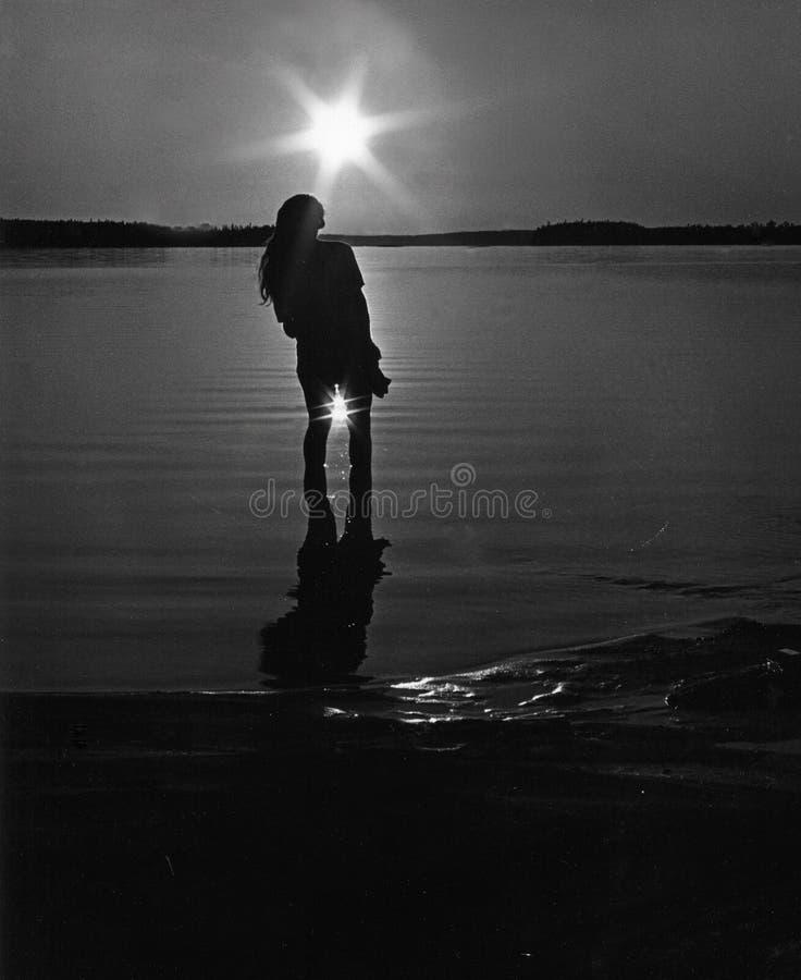 μαύρο λευκό ήλιων εικόνων αναδρομικό Στοκ φωτογραφία με δικαίωμα ελεύθερης χρήσης