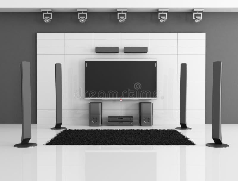 μαύρο λευκό βασικών θεάτρ&o διανυσματική απεικόνιση