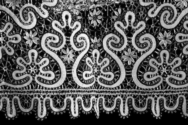 μαύρο λευκό δαντελλών στοκ εικόνα