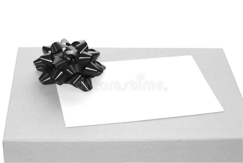μαύρο λευκό δώρων στοκ εικόνες
