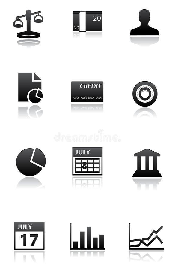 μαύρο λευκό εικονιδίων χρηματοδότησης ελεύθερη απεικόνιση δικαιώματος